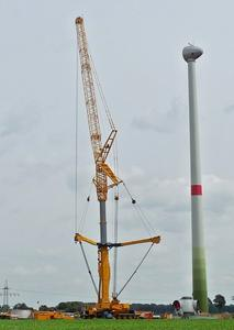 Windrad Montage im Windpark Oelerse VII, Stand 20.9.2012