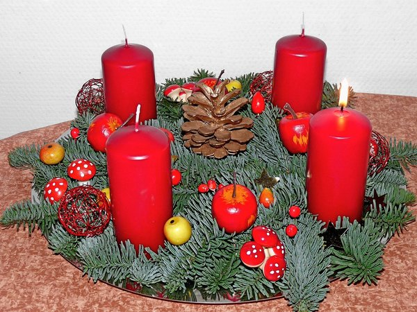 advent, gesteck
