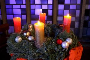 Adventskranz in der Stadtkirche