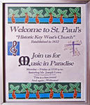 Key West - Florida - USA.                                          Stadtbummel.                                                                               St. Paul's Episcopal Church - 1832.