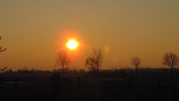 winter, sonnenaufgang