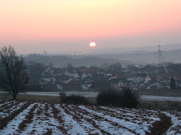 winter, morgen