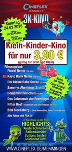 am 24.03. - Klein-Kinder-Kino im Cineplex Memmingen