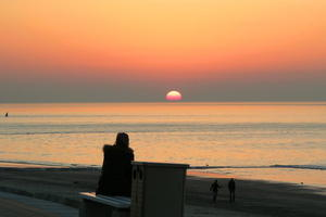 Tagesausklang auf Insel Norderney