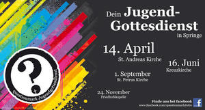 questionmark - der nächste Jugendgottesdienst in Springe am 14. April...