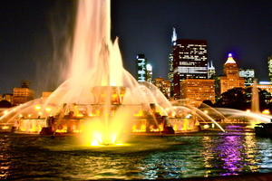 Buckingham Fountain Chicago im Sommer 2012