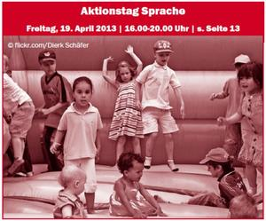 >Aktionstag Sprache< am Freitag, 19. April - in der VHS und im MGH Langenhagen