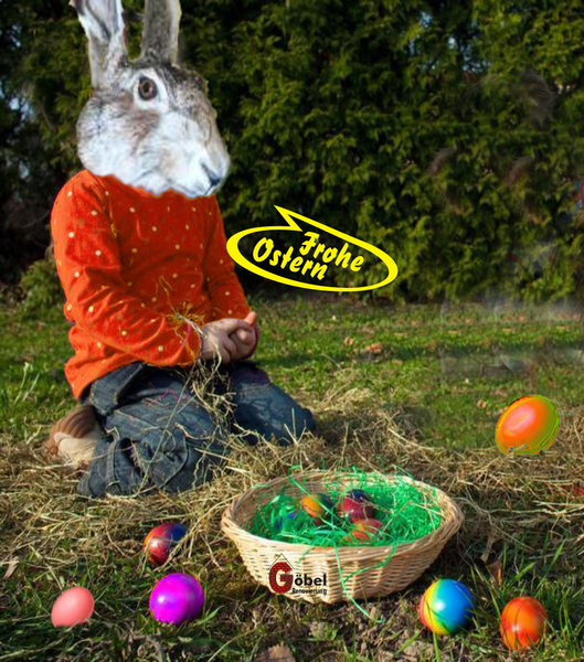 hase, fotomontage, ostern-2013