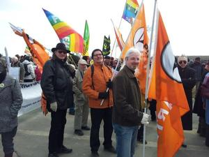 Piraten demonstrieren...