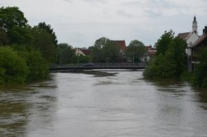 Hochwassersituation in Donauwörth am 02.06.2013