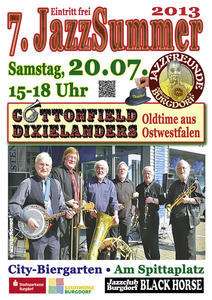 'Cottonfield Dixielanders' am 20.07. 2013 in Burgdorf