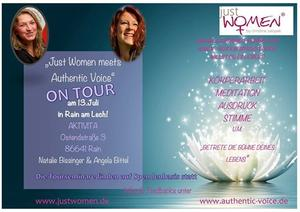 Am Samstag, den 13. Juli ist es so weit: 'Just Women meets Authentic Voice'