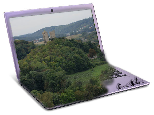 landschaft, bad-kösen, fotomontage, laptop, montagen