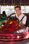 Friedberger Volksfest 2013 - myheimat-Model Felix beim Autoscootern im Number One