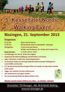 5. Kesseltaler Nordic Walking Event - Samstag, 21. September 2013