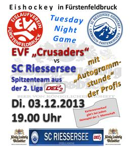 Tuesday Night Game - SC Riessersse zu Gast beim EV Fürstenfeldbruck