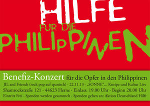 Hilfe für die Philippinen - Benefiz-Konzert mit JIL and Friends in Herner Sonne