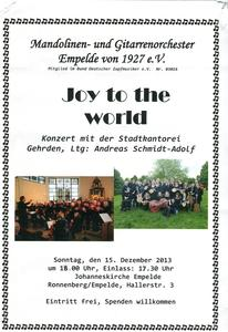 Weihnachtskonzert ' Joy to the world'