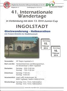 Internationale Wandertage in Ingolstadt am 15./16.02.2014