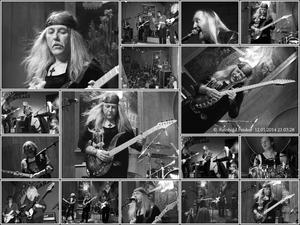 Collage vom Gig, 'Uli Jon Roth' und Band, in der Blues Garage am 11.1. 2014