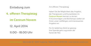 4. offener Therapietag