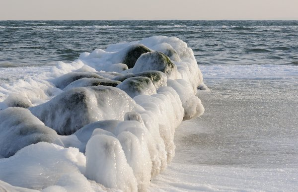 winter, eis, ostsee, lensterstrand, grömitz