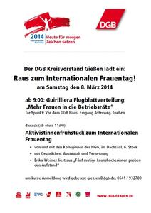 Internationaler Frauentag 2014 in Gießen