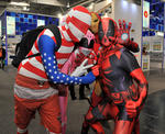 Comic-Superhelden auf der Cebit 2014.