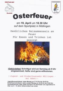 Osterfeuer 2014 in Müllingen
