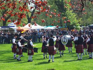 Beim Highland Gathering 2013 in Peine