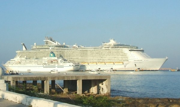 "'MS Allure of the Seas"" (6300 Passagiere ) oder MS 'Amadea' 900 Passagiere."