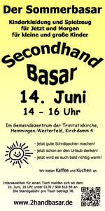 Der Sommerbasar / Secondhand-Basar in Hemmingen