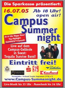Campus-Summernight 2005: Plakat