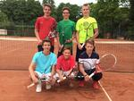 Junioren A I mit Jacob, Lennart, Yannick, Vincent, Tom und Kenneth