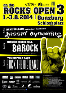 on the ROCKS OPEN 3  ERSATZTERMIN ,Yasi Hofer & Rock The Big Band , Montag 4. August !!