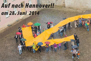 Hochspannung- Demo in Hannover