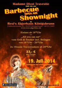 Barbecue OPEN AIR Shownight mit Madame Divot!