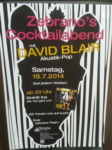 DAVID BLAIR , Singer Songwirter & Popmusic @ Zebrano Cafe´Bar Günzburg