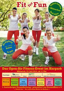 Plakat für Open-Air Fitness-Event im Bad Lauterberger Kurpark