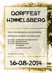 Dorffest in Himmelsberg am 16.08.2014