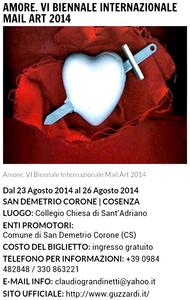 Ausstellungsplakat VI. Internationale Biennale San Demetrio Corone 2014 in Italien