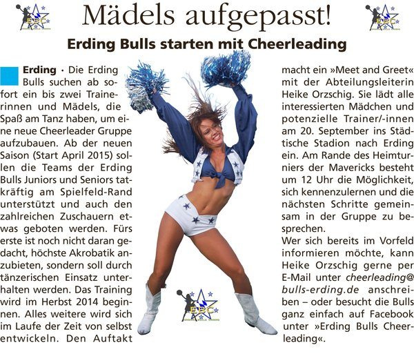 american-football, cheerleader, erding-bulls, erding-cheerleader