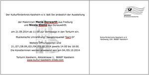 Vernissage am 21. September