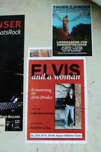 Elvis and a woman