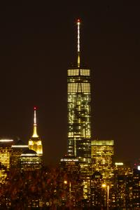 New York City World Trade Center One am Abend November 2014