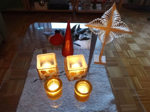 adventszeit, tischdekoration