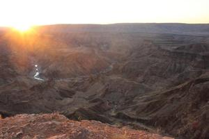 Sonnenuntergang am Fish River Canyon