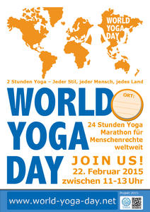 World Yoga Day am Sonntag, den 22. Februar 2015