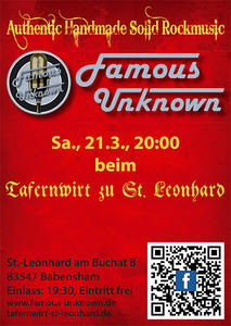 FamousUnknown / Live / Tafernwirt St. Leonhard