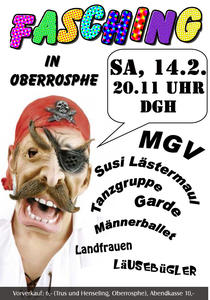 Fasching in Wetter-Oberrosphe am Sa, 14.2.2015
